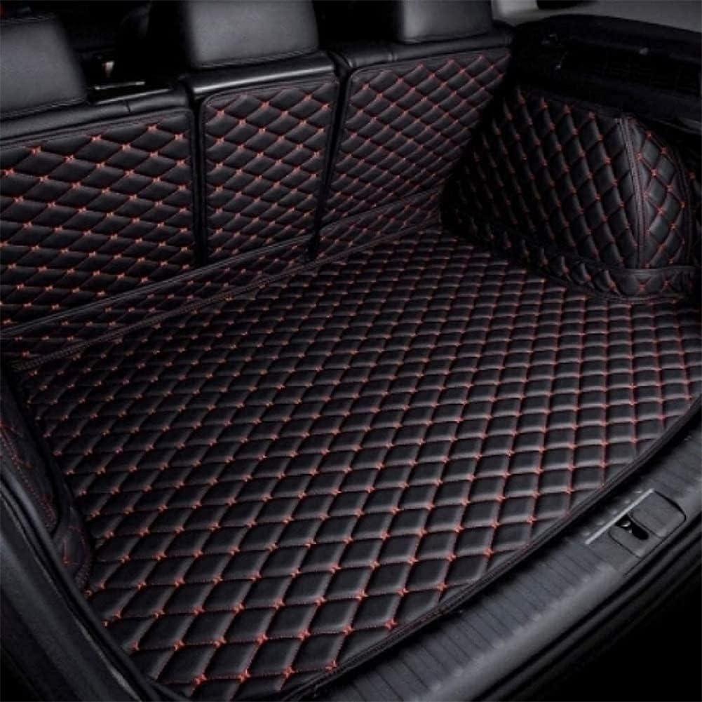Funda De Maletero De Coche Protector Maletero para Nissan X-Trail 7 Seats Rogue 2013-2020, Alfombrilla Protectora para Maletero Cuero, Cubre Maletero Accesorios Coche, Vino Rojo
