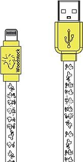 グルマンディーズ ピーナッツ Lightning対応同期&充電ケーブル ウッドストック sng-223c