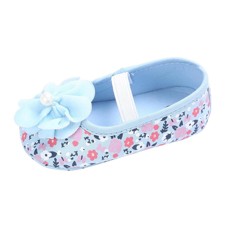 ベビーシューズ Mangjiu 女の子 花 快適 学步靴 滑り止め 運動靴 幼児靴