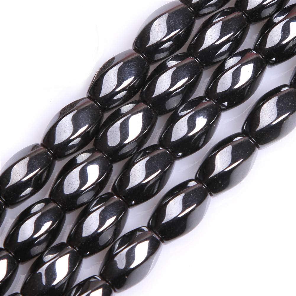 GEM-Inside 8X12mm Olivary Twist Popular shop is the lowest price challenge Ggemstone Ranking TOP20 Black Hematite Non-Mag