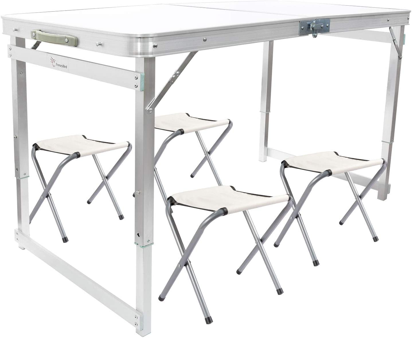 FrenzyBird Folding Picnic Table with Stools Ox Max Bombing new work 49% OFF Aluminum 4