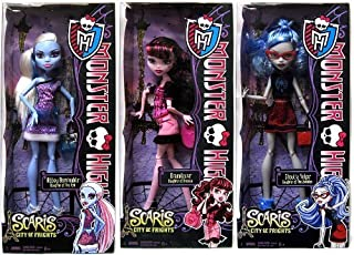 Monster High Scaris City of Frights Set of 3 BASIC Dolls [Draculaura, Abbey Bominable & Ghoulia Yelps]