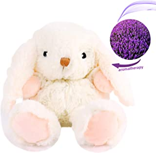 YunQiXin Soft Scented Preschool Toddler Stuffed Bunny Animal Plush Toys Cute Rabbit, Unisex Baby Child Gifts Microwave Aromatherapy Doll with Lavender Scent (10inch)