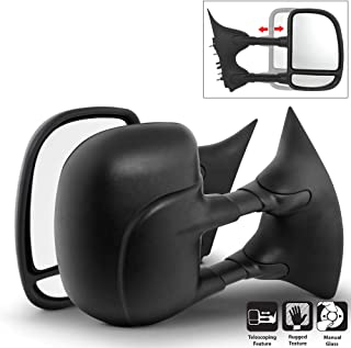 Acanii - Towing Telescoping MANUAL Non Heat Side Mirrors LEFT+RIGHT For 99-07 Ford F250~F550 Super Duty Superduty