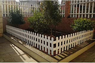 ZHANWEI Garden Fence Picket Fencing Animal Barrier Flower Bed Protective Guard Edging Outdoor Gardening Decor - White, 6 ...