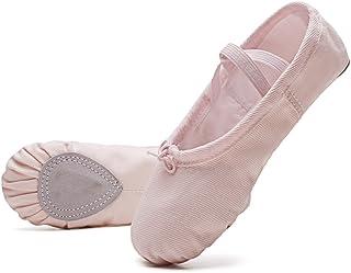 konhill Girls Ballet Slipper Shoes - Ballerina Shoes Yoga Dance Shoes Flats (Toddler/Little Kid/Big Kid/Women/Boy)