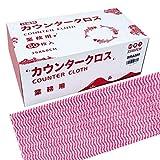 JSM カウンタークロス ピンク 厚手 60枚入 35 x 60cm 使い捨てぞうきん 雑巾