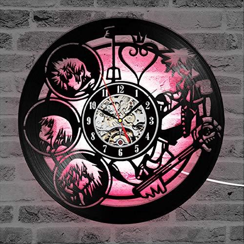 Wandklok Decorative Record Clock Silent Hollow Art Deco Wall Clock Antique Digital Wall Clock