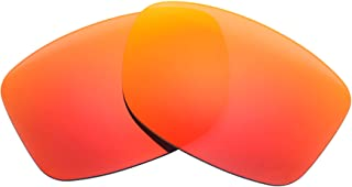 NicelyFit Polarized Replacement Lenses for Oakley Jupiter Squared Sunglasses (Fire Red Mirror)