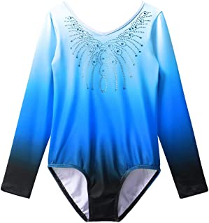 Gymnastics Leotard Girls Shiny Diamond Ballet Dance One Piece