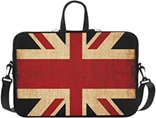 Laptop Bag Holder UK Flag Lightweight Waterproof Business Casual Or School Zip Laptop Bag for Business Travelling