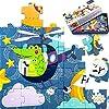 iPlay, iLearn 75 PCS Kids Jigsaw Floor Puzzles, Animals Jumbo Interlock Puzzle, Preschool Educational, Learning, Montessori Toy Gifts for 3, 4, 5, 6, 7, 8 Year Olds, Boys, Girls, Toddlers, Children [並行輸入品]