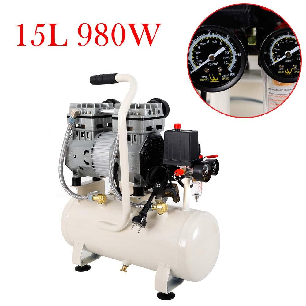 Compresor de susurro 980W 220v Compresor de aire silencioso aire comprimido 15l: Amazon.es: Bricolaje y herramientas