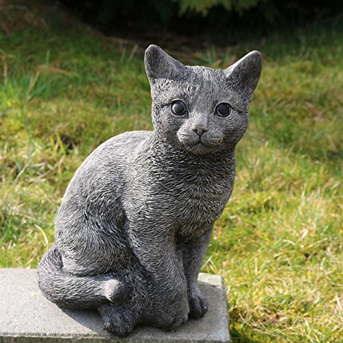 Kretakotta sitzende Katze Antiksteinguss, H. ca. 30 cm