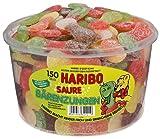 Haribo Lenguas Ácidas, Ositos de Goma, Gominolas, Gomitas de Fruta, 150 Unidades, 1350g Tarro
