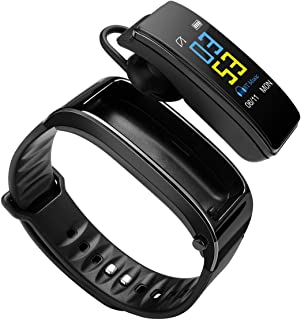 Reloj inteligente Bluetooth para los oídos, monitor de actividad física, monitor de ritmo cardíaco, monitor de sueño, podómetro, reloj para hombres y mujeres