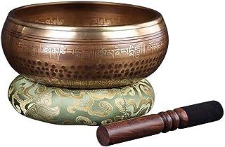 ZOUJUN Handmade Buddha Sound Bowl Silent Mind Tibetan Singing Bowl Set Great for Mindfulness Meditation Relaxation Stress ...