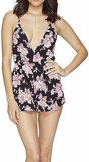 Flynn Skye Pink Blossoms Womens Large Rachel Romper Black L