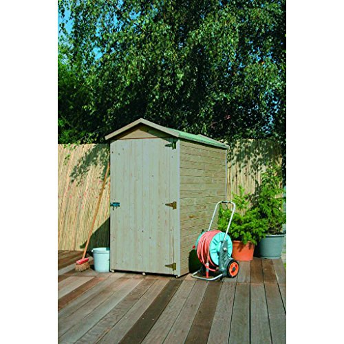 SOLID SUPERIA Storage Traditional Abri de Jardin Bois, 183x90x183 cm