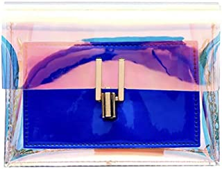 Women Transparent Messenger Crossbody Laser jelly bag for lady