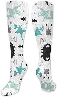 ulxjll, Calf Sock Adorable Dinosaurio Niños Mujeres Calcetines De Compresión Hombres Atlético Mejor Graduado Médico Hombres Mujeres Corriendo Vuelo Viaje 50Cm