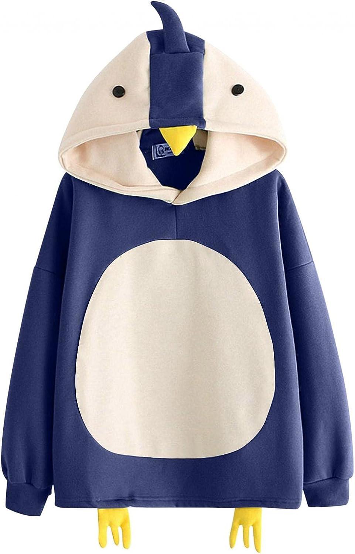 Aiouios Hoodies for Teen Girls Trendy Anime, Teen Girls Trendy Cute Animal Hoodie Crewneck Sweatshirts Comfy Tops