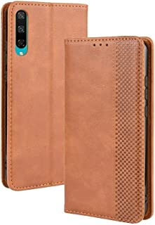 Leather Case Compatible with Huawei Honor Play 3, PU Leather+Soft Inner Design Business Magnetic Closure Flip Wallet Case Cover Phone case (Color : Brown)
