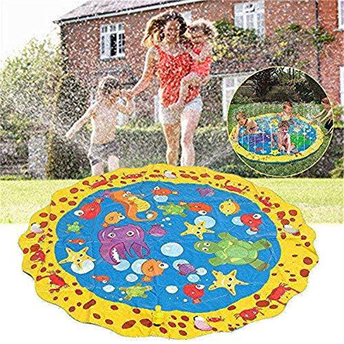 Strooi en plons speelmat, waterspeelgoed voor kinderen/hond/kat/huisdieren, zomerspeelgoed voor gezinsactiviteiten buiten (100 cm)