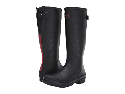 Joules Welly Print (Black Rain Drops) Women