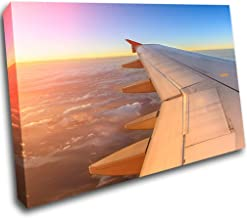 H905 Airplane Taking Off Sunset Window Wall Decal 3D Art Stickers Vinyl Room