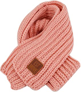 Queena Kids Soft Warm Knitted Scarf Solid Color Toddler Neck Warmer