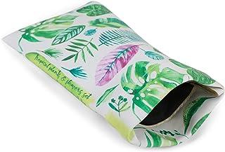 styleBREAKER Étui pour lunettes de soleil avec imprimé feuilles de palmier et chiffon de nettoyage, étui avec fermeture à ...
