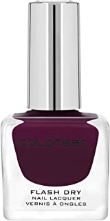 Colorbar CFD219 Flash Dry Nail Lacquer, Plumtastic 219, 12ml