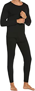 Men's Thermal Underwear Base Layer Thermal Top & Bottom Long John Cotton Underwear Set