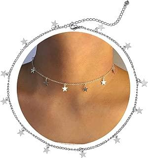Star Choker Necklace Gold Brandy Melville Star Necklace Choker for Women Silver Star Necklace Dainty Choker Necklace Brandy Melville Jewelry Gift