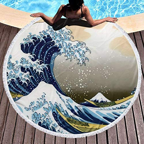 Wohnen Badausstattung Badtextilien Frottiertücher Strandtücher Rainbow Gradient Round Beach Towel Soft Microfiber Thick Large Tapestry Table Cloths Roundie Beach Blanket Throw Picnic Yoga Mat Terry wi