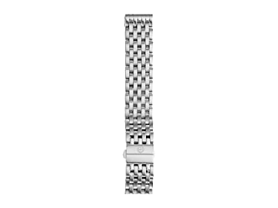 Michele 18mm Deco 7-Link Bracelet Silver/Steel (Silver/Steel) Watches