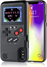 LayOPO Gameboy iPhone Case, iPhone Case Game Console with 36 Small Games,Color Screen,Retro 3D Gameboy Design for iPhone Xs/X,iPhone8/8 Plus,iPhone 7/7 Plus,iPhone 6/6Plus (iPhone X/XS, Black)