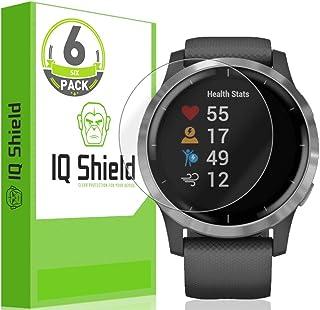 IQ Shield Screen Protector Compatible with Garmin Vivoactive 4 (44mm)[6-Pack] LiquidSkin Anti-Bubble Clear Film