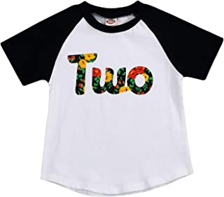 1st or 2nd Birthday T-Shirt Toddler Kids Girls Outfits Two Year Old Top Clothes