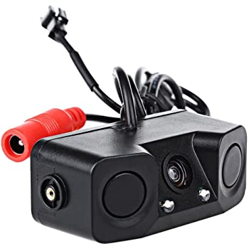 PONPY 3 in 1 Auto Water-Proof Camera Lens with HD Rearview Camera with Parking Sensor