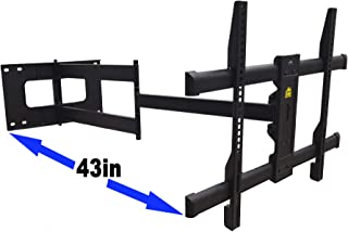 FORGING MOUNT Long Arm TV Mount Full Motion Wall Mount TV Bracket with 43 inch Extension Articulating Arm TV Wall Mount, F...