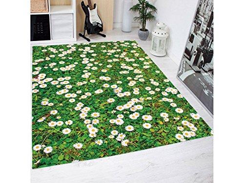 Oedim Alfombra Estampado Margaritas Multicolor PVC | 95 cm x 95 cm | Moqueta PVC | Suelo vinilico | Decoración del Hogar