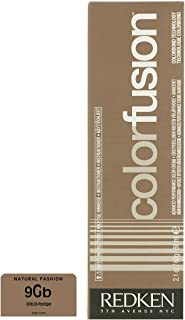 Redken Color Fusion Color Cream Natural Balance for Unisex, No. 9GB Gold/Beige, 2.1 Ounce