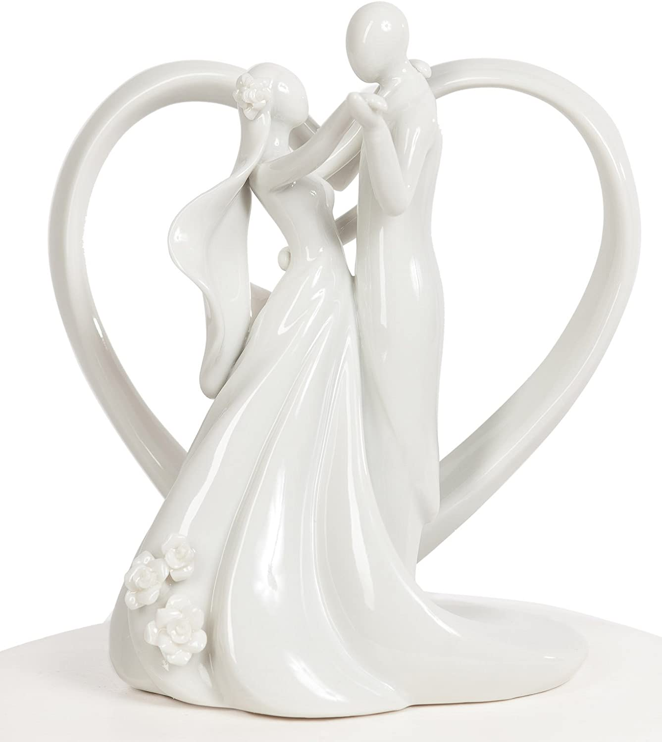 Wedding Collectibles Stylized Dancing Heart Wedding Cake Topper
