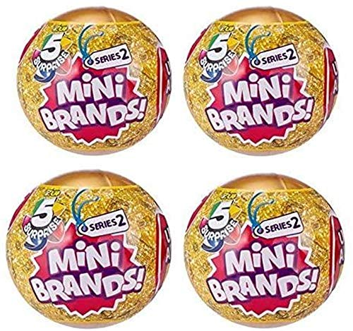Zuru Toys 5 Surprise Mini Brands Series 2 - 4 Ball Bundle