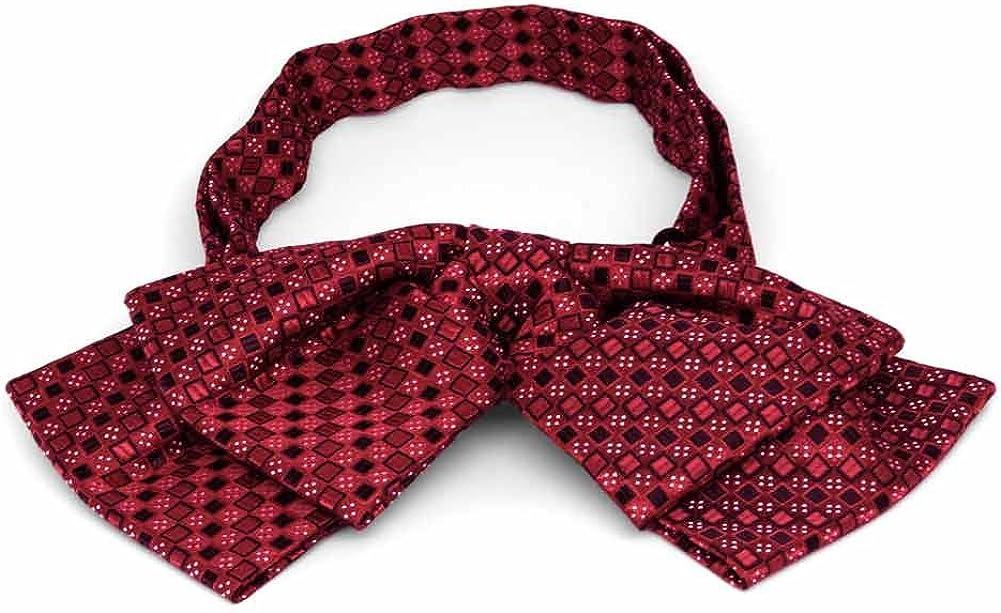 TieMart Red Floppy Bow Tie