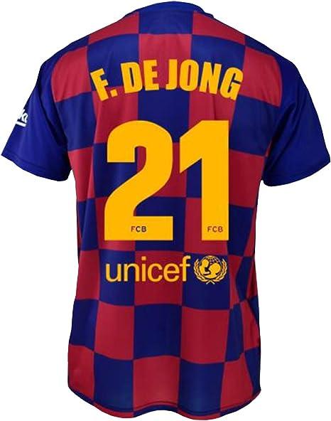 FC Barcelona - Maglietta per la prima squadra dei bambini, con licenza ufficiale della squadra di calcio francese francese francese di Jong del FC ...