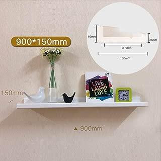 YSXFS Solid Wood Wall Mounted Shelves Floating Shelf Organizer Storage Rack Bedroom Living Room Office Decor Bracket (Color : White, Size : 90CM)