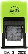 Miseyo Self Inking Date Stamp - Black Ink (2 Refill Ink pad Included)